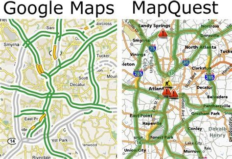 mapquest maps maps vs mapquest which mapping service to use neurogadget