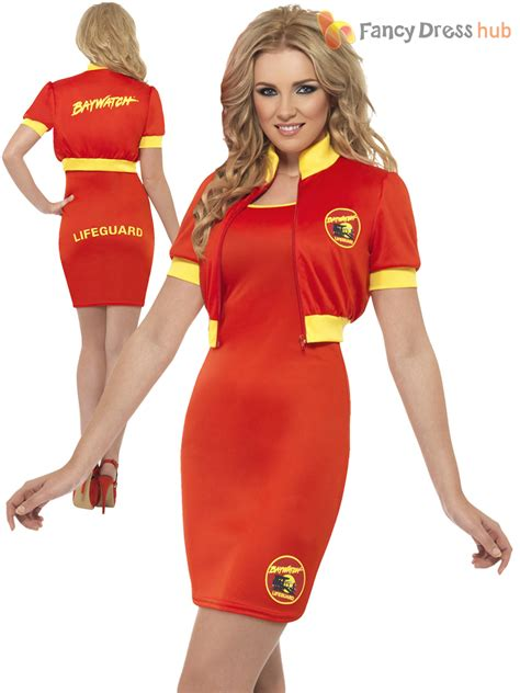 90s fancy dress costumes ebay ladies baywatch fancy dress beach lifeguard sexy swimsuit