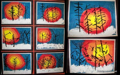 Landscape Lesson For Kindergarten Lines Dots And Doodles Kindergarten Winter Take On