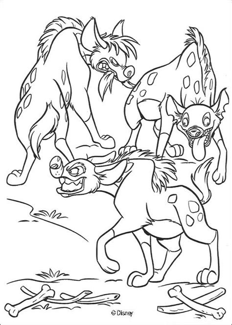 three hyenas coloring pages hellokids com