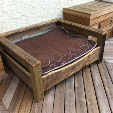 diy dog bed frame made from another pin idea nice dog bed of barn board