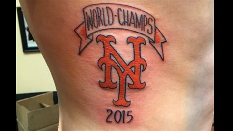 world series tattoo the mets are world chs according to one s
