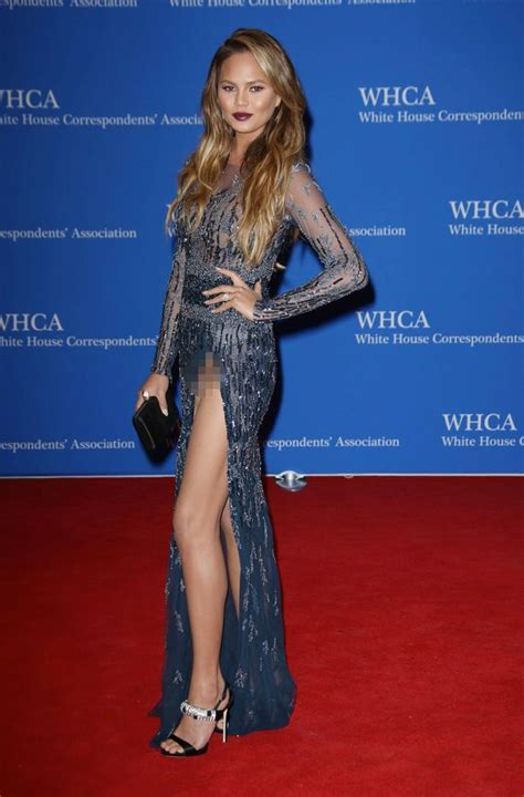 chrissy teigen at white house knickergate chrissy teigen shows more than her thighs on