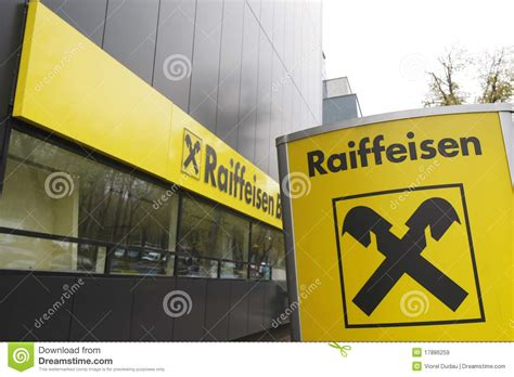 reifaisen bank raiffeisen bank editorial stock image image 17886259