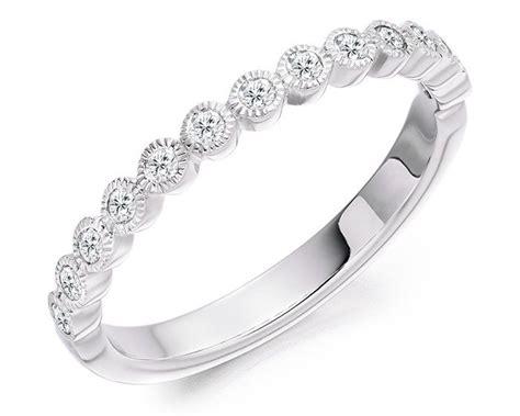bezel set wedding band platinum 0 25ct milgrain bezel set wedding band wr3003 ireland