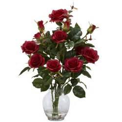 Rose Arrangements In Vases Silk Red Rose Centerpiece Arrangement