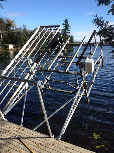 how to build a cantilever boat lift boat lift options accessories r j machine