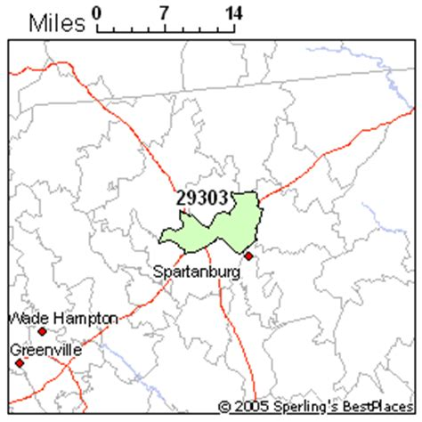 zip code map upstate sc best place to live in spartanburg zip 29303 south carolina