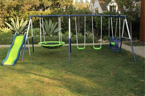 swing set slides for sale sportspower rosemead swing and slide set 169 16 reg 299