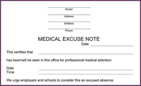 Excuse Letter Missing Work Doctors Notes For Missing Work Cvsleform
