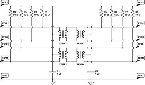 gigabit layout guidelines gigabit ethernet magnetics schematic differential