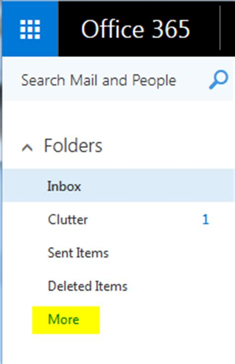 Office 365 Archive Archiving Email In Office 365 Indiana Wesleyan