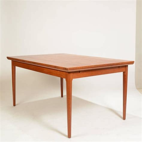 large modern teak dining table by l f mobler for