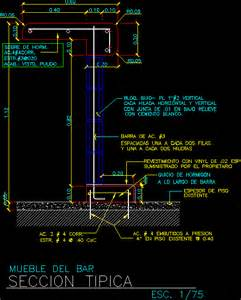 Bar Section In Autocad Drawing Bibliocad