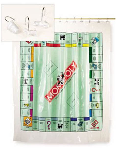 monopoly shower curtain jennie s monopoly collection