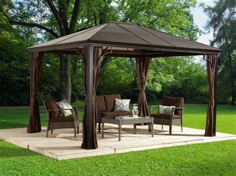 hardtop gazebo 10x10 10x10 top gazebo with mosquito netting ebay