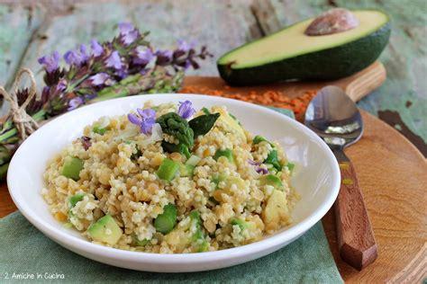 miglio cucinare miglio e lenticchie rosse con asparagi e avocado 2
