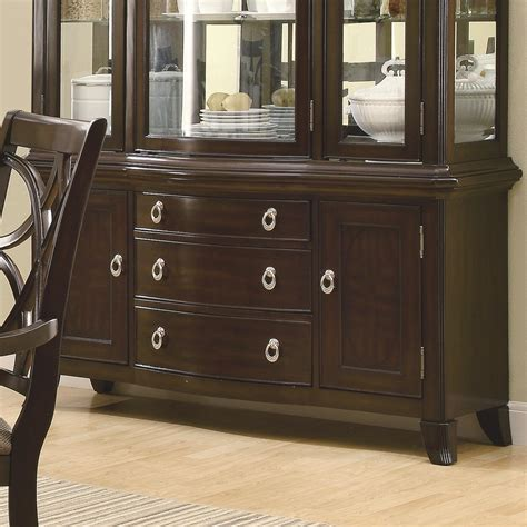 buffet with drawers meredith espresso buffet serving table with 3 drawers