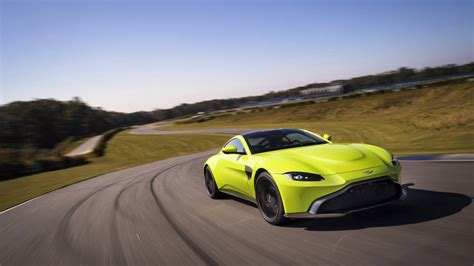 lime green aston 2018 aston martin v8 vantage revealed
