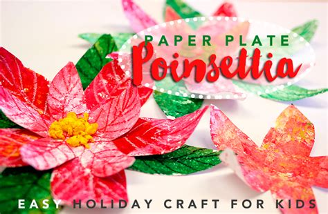 poinsettia craft project paper plate poinsettia craft for