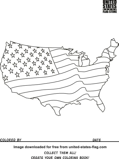 coloring book united states map free american flag coloring pages