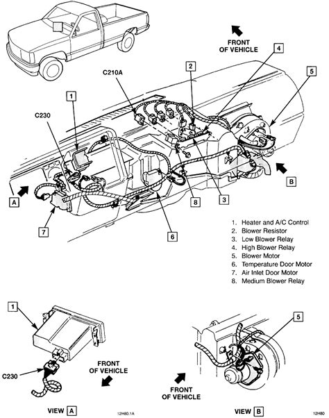 1994 chevy silverado blend door actuator trailblazer heater blend door actuator reset html autos