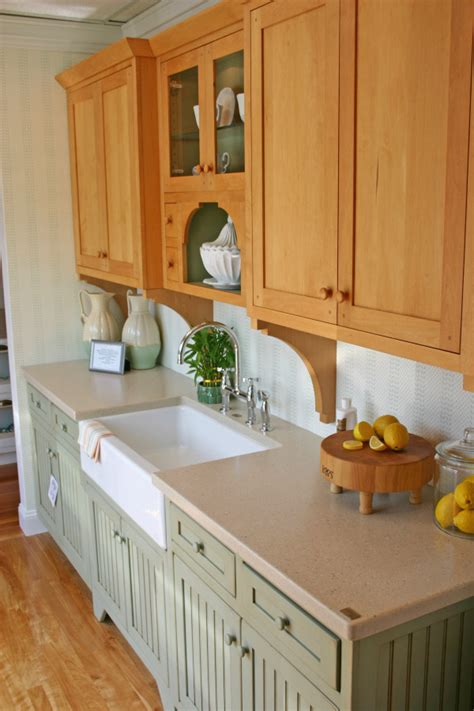 Painted And Stained Kitchen Cabinets Mixing Painted And Stained Kitchen Cabinets Thenest