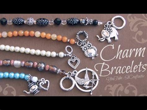 how to jewelry diy beaded charm bracelet with wire crimp clasps