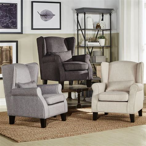 oatmeal linen wingback chair homesullivan slate linen barrel back arm chair