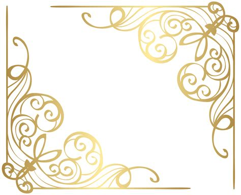 Transparant Pink Decorative corners gold png clip image gallery yopriceville high quality images and transparent png