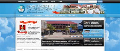 desain web tutorial contoh desain web dinas pemerintahan