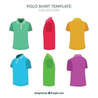 polo pattern ai two color polo shirt template colecction vector free