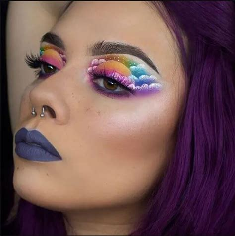 rainbow makeup crazy makeup ideas
