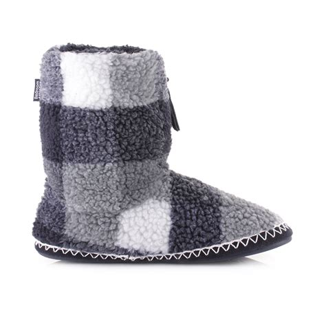 navy slipper boots mens bedroom athletics mcqueen navy black white fleece