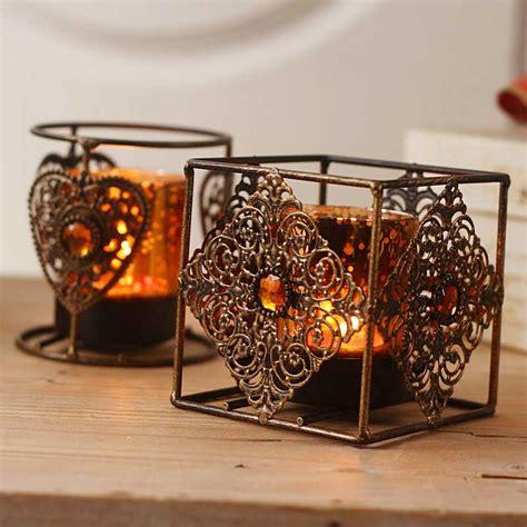6 5x7cm vintage tea light holder w metal rim 6 72 apac antique style glass metal vintage tea light candle