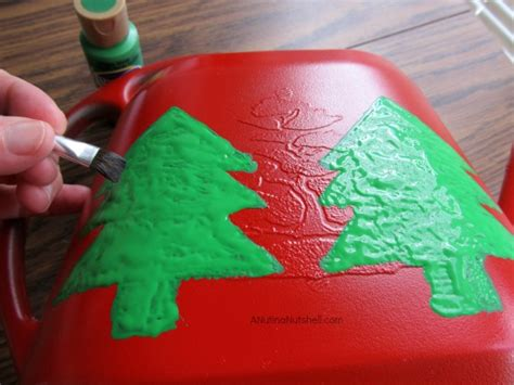 holiday diy crafts christmas tree watering can lizventures