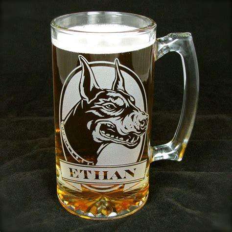 1 Personalized Labrador Retriever Beer Mug, Etched Glass