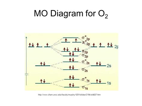 mo diagram for o2 molecular orbital theory ppt