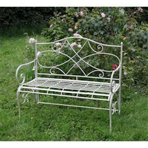 folding metal garden bench folding cream metal garden bench homegenies