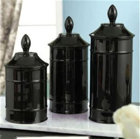 black canisters for kitchen black glass kitchen canisters on popscreen