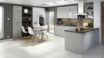 light grey cabinets in kitchen technica gloss light grey kitchen modern kitchens with clever features