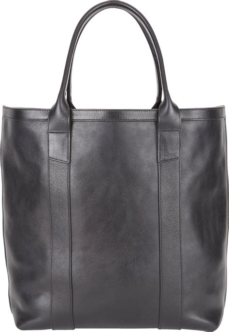 lotuff leather bag lotuff leather open top tote in black for lyst
