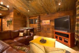 Log Cabin Themed Home Decor Crosswater Ski Lodge Rustic Family Room Portland