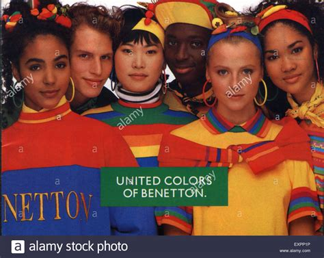 1980s uk united colors of benetton magazine advert stock