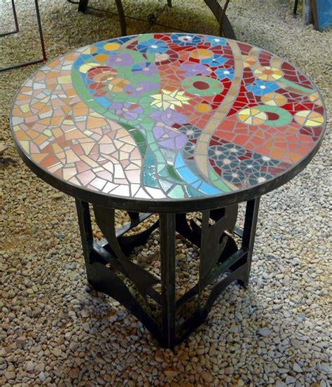 table exterieur mosaique table en mosaique by hourcq mosaik