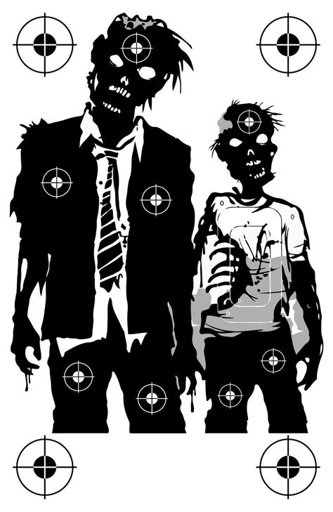 printable zombie face targets printable zombie head targets www imgkid com the image