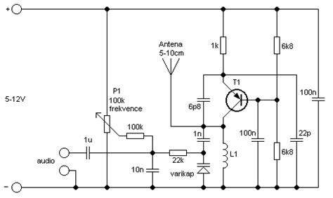 fm transmitter with one transistor circuit zone electronic projects electronic schematics diy electronics
