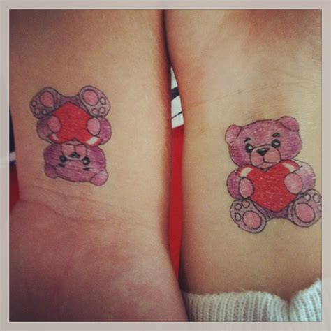 images of matching tattoos for couples matching teddy tattoos for tattooshunt
