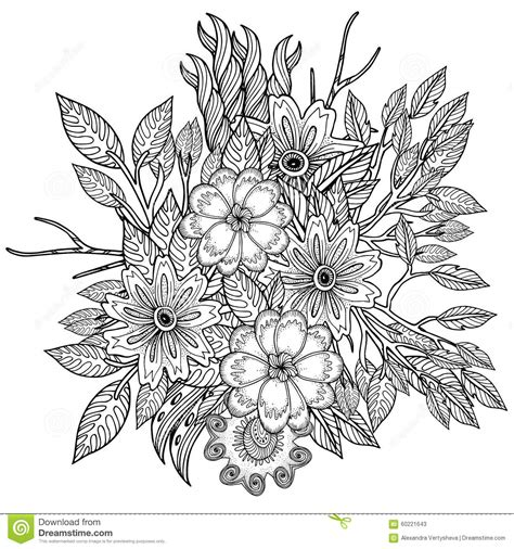 coloring book vector pattern for coloring book ethnic retro design stock