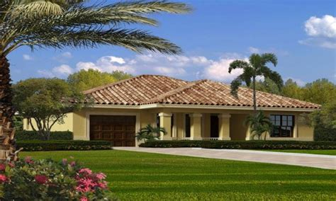 One Story Ranch Style House Plans by Single Story Mediterranean House Plans Single Story Ranch